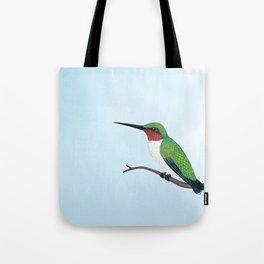 the studious male (ruby-throated hummingbird) Tote Bag