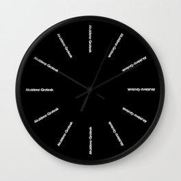 THANKS FOREVER, BERTHOLD! Wall Clock