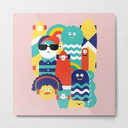 Skate gang *Pink* Metal Print