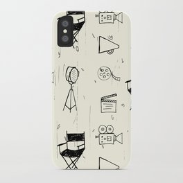 Filmmaking Pattern // Ink Drawing iPhone Case