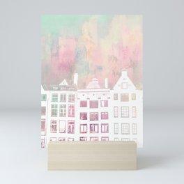 Amsterdam Netherlands Row Houses Mini Art Print