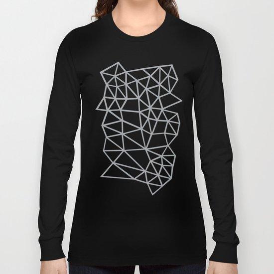 Segment Grey and Black Long Sleeve T-shirt