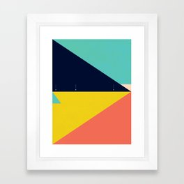 Secret Surf Map — Matthew Korbel-Bowers Framed Art Print