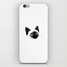 Curious Siamese Kitten iPhone Skin