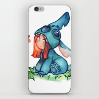 stitch iPhone & iPod Skins featuring stitch  by noCek