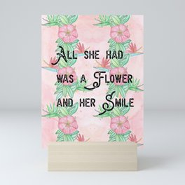 Surfer girl quotes Mini Art Print