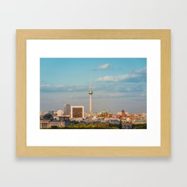 Berlin City Skyline - Cityscape and Tv Tower in Berlin, Germany Framed Art Print