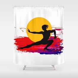 Martial art, karate, judo, aikido, self defence Shower Curtain