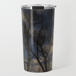 Enchanting Nighttime Trees and Sky Travel Mug
