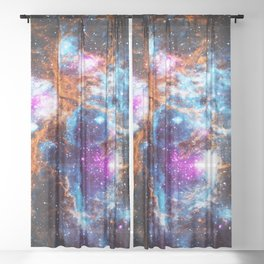 Cosmic Winter Sheer Curtain