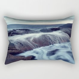 Washing Ashore Rectangular Pillow