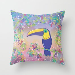 Toucan Can Do It 2! Throw Pillow