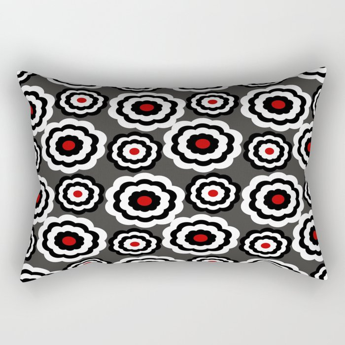 Retro Flower Pattern Rectangular Pillow
