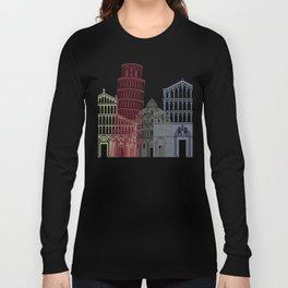 Pisa skyline poster Long Sleeve T-shirt