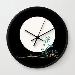 Moonlightflower Wall Clock
