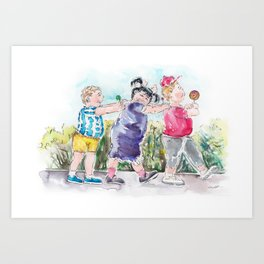 The Sweet Eaters - The Trio Art Print