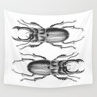 beetle Wall Tapestries featuring Vintage Beetle by LebensART