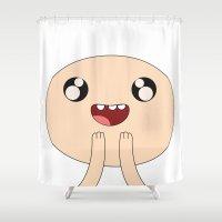finn Shower Curtains featuring Adventure - Finn by Alessandro Aru