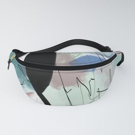multicolored and geometric digital drawing Fanny Pack