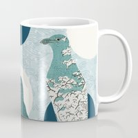 polka Mugs featuring Penguin Polka by Paula Belle Flores