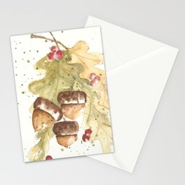 Autumn Acorns Stationery Cards