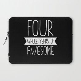 Fourth Birthday Gift 4th 4 Year Old Birthday Gift Laptop Sleeve