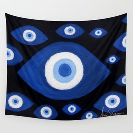 Evil Eyes Montage Wall Tapestry