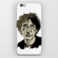 neil gaiman iPhone & iPod Skins featuring Neil Gaiman by Andy Christofi