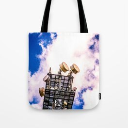 Radio Tower Cloudy Sky bright Tote Bag