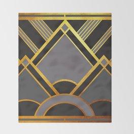 Art Deco New Tomorrow In Grey Throw Blanket
