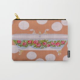 Circles and Suds Bathroom Art Carry-All Pouch