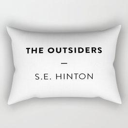 The Outsiders  —  S.E. Hinton Rectangular Pillow