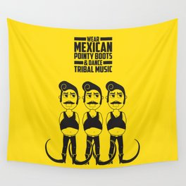 Hector loves tribal music.  Wall Tapestry