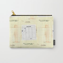Library Book Date Due Card Carry-All Pouch