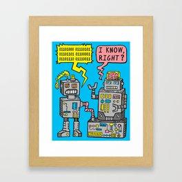 Robot Talk Framed Art Print