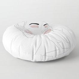 Blush Splash Floor Pillow