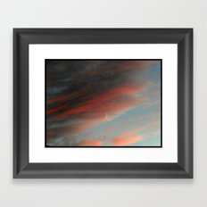 Moon and Sunset Framed Art Print