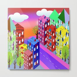 Abstract Urban By Day Metal Print