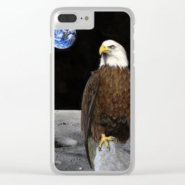 The Eagle Has Landed Clear iPhone Case