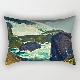 "George Wesley Bellows ""Rock Bound"" Rectangular Pillow"