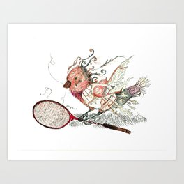 The Wild Badminton Birdie Art Print