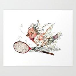 The Wild Badminton Birdie Art Print