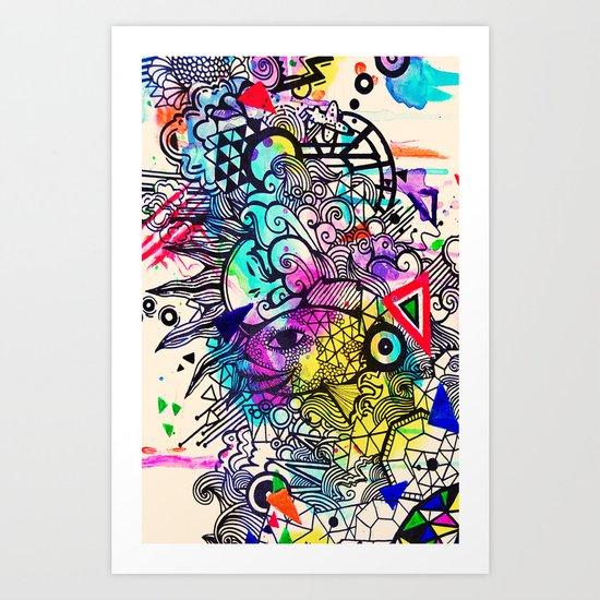 Doodle in Color Art Print