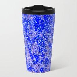 Yellow Wildflowers In Blue Travel Mug