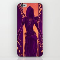 dragon age iPhone & iPod Skins featuring Dragon Age: Morrigan by Sara Cuervo