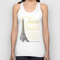 tour de france Tank Tops featuring Tour De France Eiffel Tower by Wyatt Design