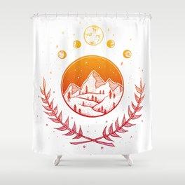 Celestial - Warm palette Shower Curtain