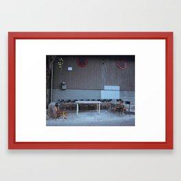 sturdy table Framed Art Print