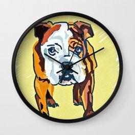 Bulldog Puppy Dog Portrait Wall Clock