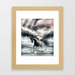 The Beauty and the snow Framed Art Print